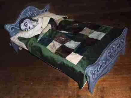 An ornate bed... 1