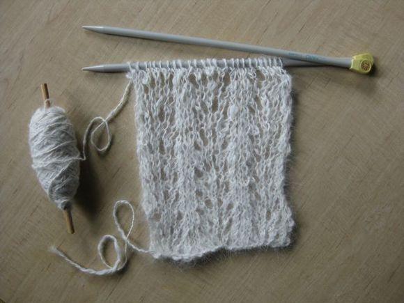 Angora Rabbit Tracks Spinning and Knitting