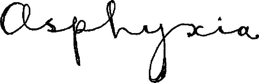 Asphyxia-signature