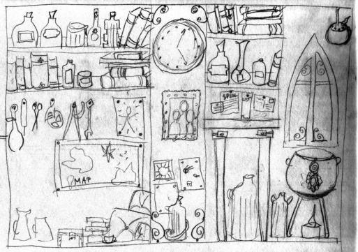 Concept for Grandpa Grimstone's Apothecary