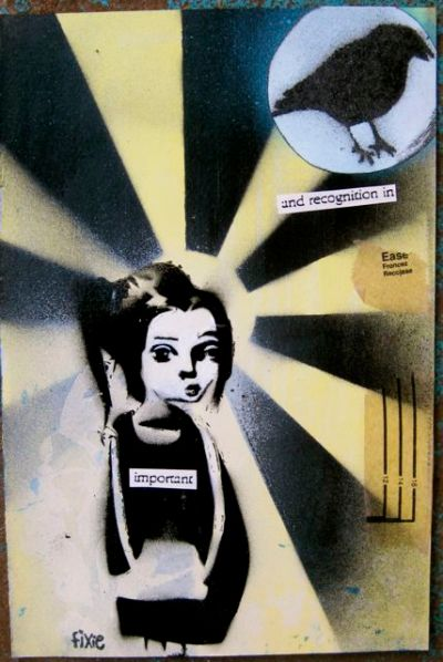 Fun with spraypaint and stencils