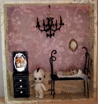 Gothic Doll Art Installation 1