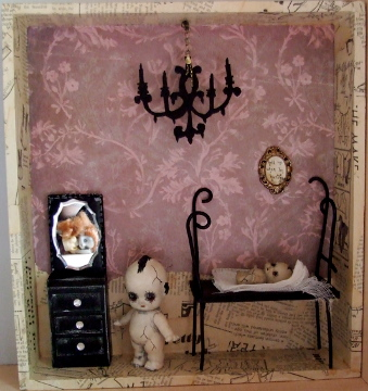 Gothic Doll Art Installation 1