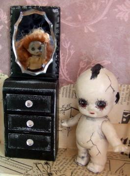 Gothic Doll Art Installation 3