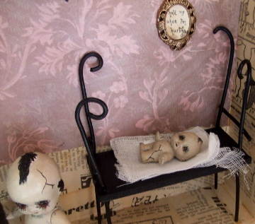 Gothic Doll Art Installation 6