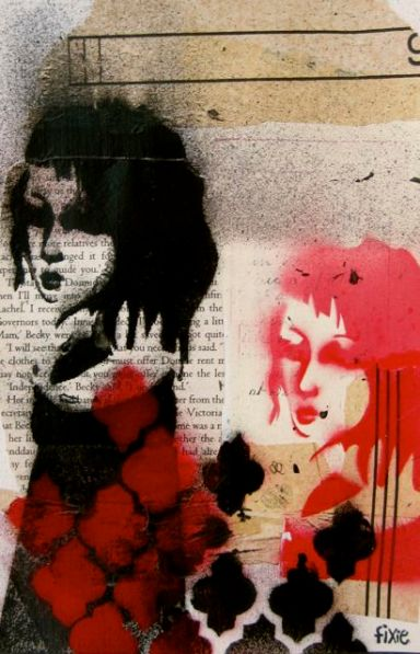 More fun with spraypaint and stencils