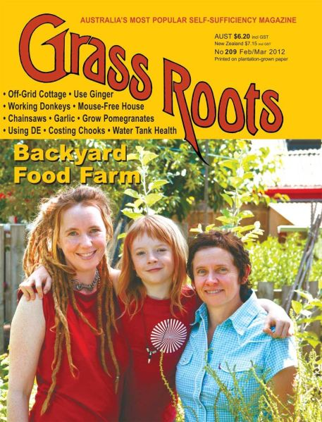 On the cover of Grass Roots Magazine!