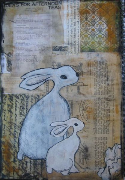 Rabbits - art journal