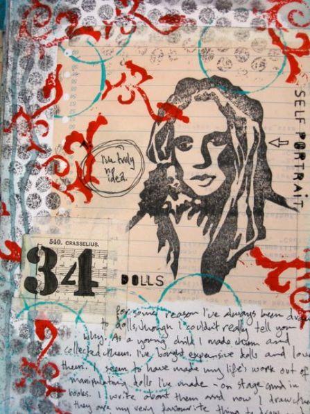 Self Portrait Stamp