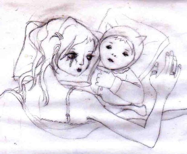 Trashed Mama Drawing