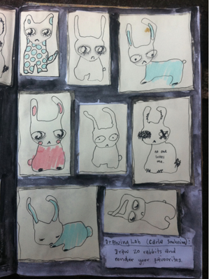 Twenty Rabbit Drawings 2