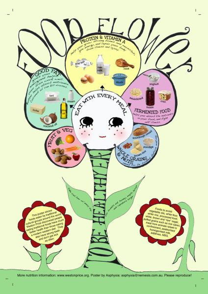 Food flower poster to replace the food pyramid