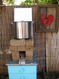 I made a rocket stove!