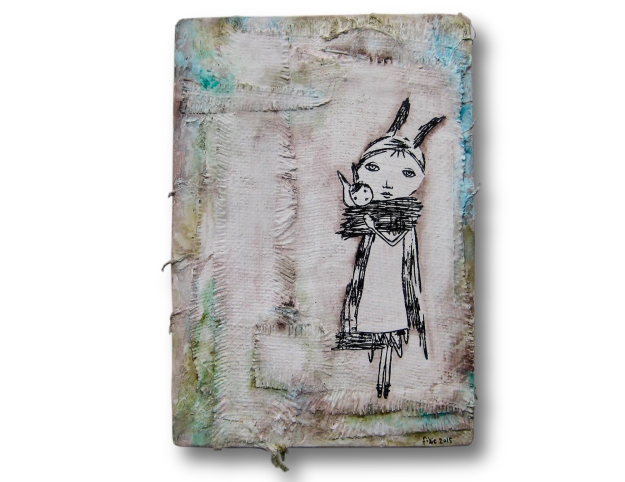 Mama and Baby Rabbit on Plaster-1