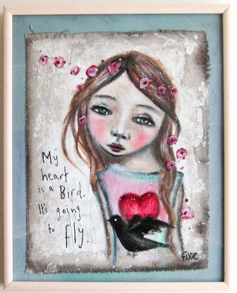 My Heart Is A Bird - Framed-4