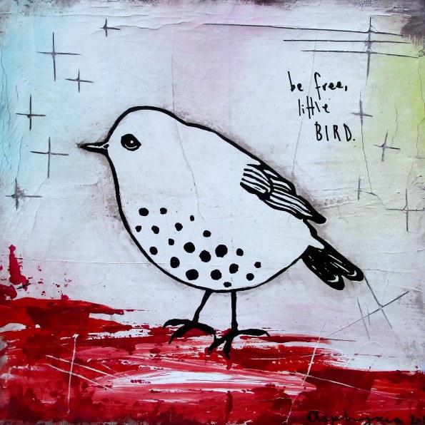 Be free little bird - white-2