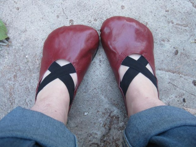 DIY Red Shoes