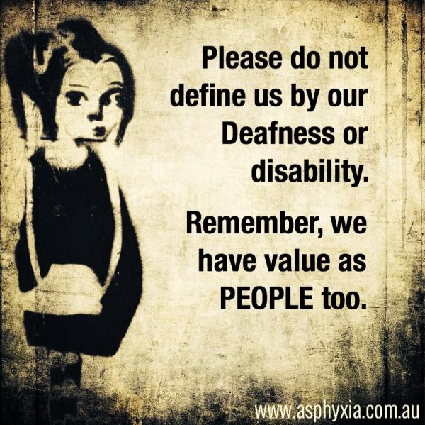 Don't define us