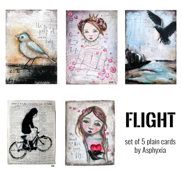 Flight - set of 5 cards