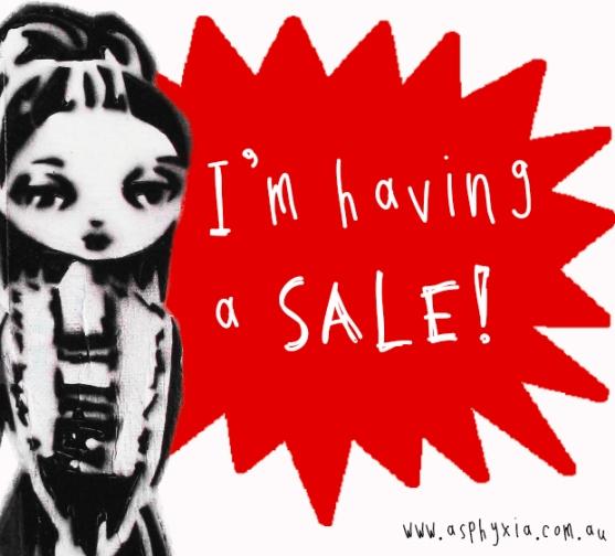 I'm having a sale!