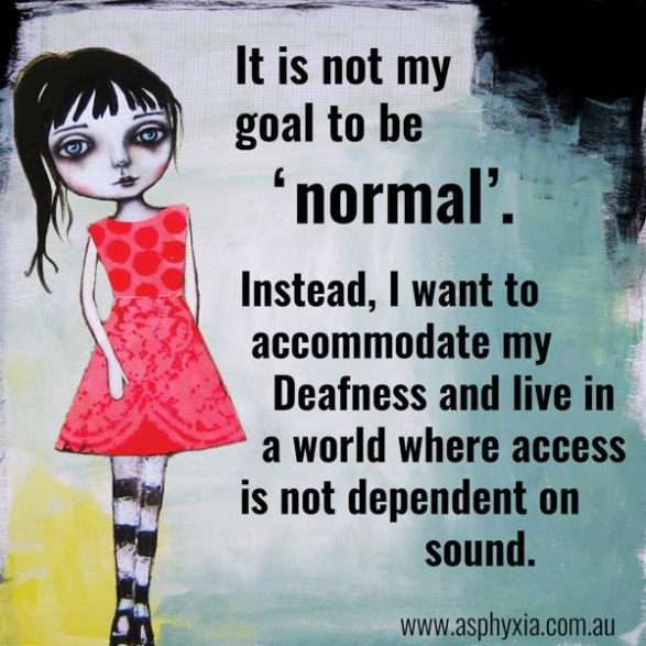 It is not my goal to be normal-1